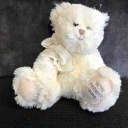 Peluche ours blanc N°37